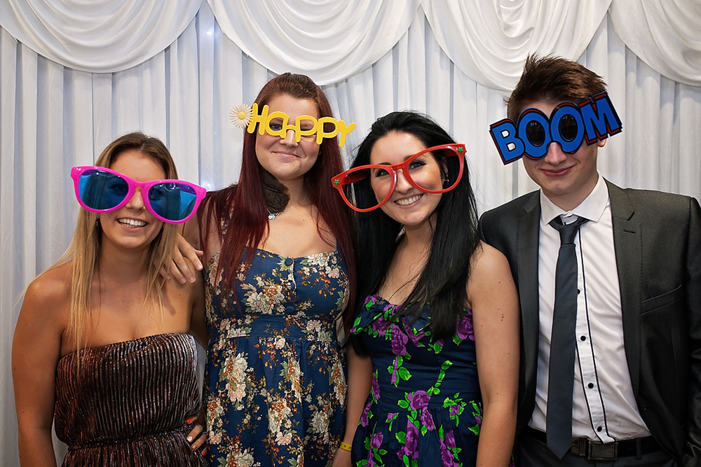 Funny glasses photo booth photography