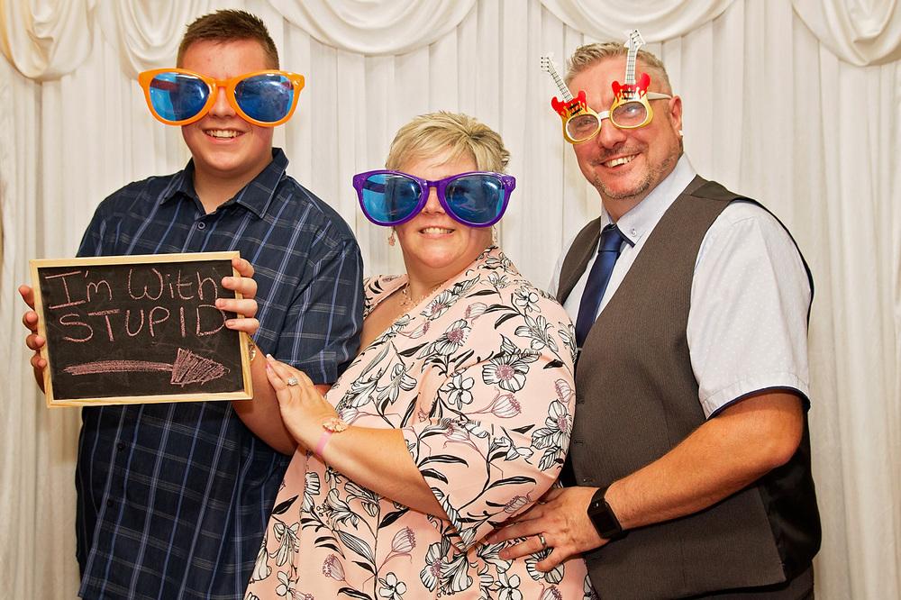 with stupid wedding photo booth