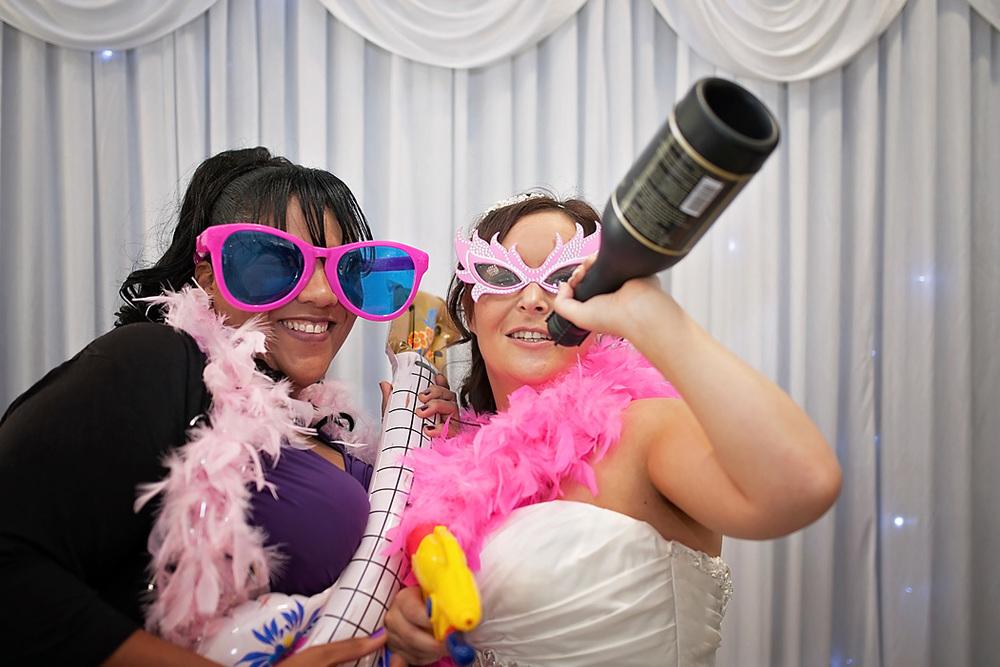 Bride photo booth nottingham wedding photography
