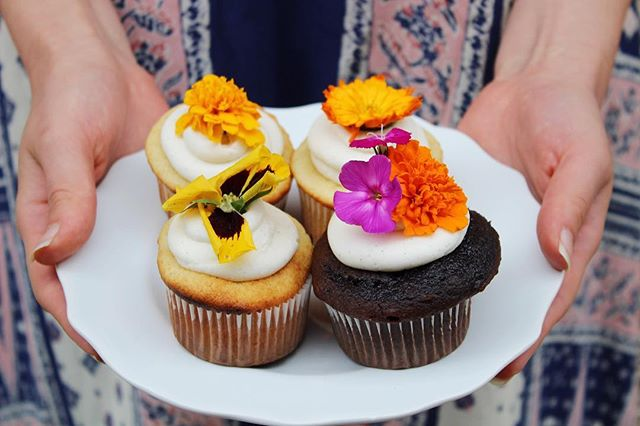 We just dropped off some super pretty cupcakes to today's office hero, Maria at @volusion! You can be the office hero, too, with flavors like Amaretto Vanilla Bean and Kahlúa Fudge. Or you can hoard them all for yourself...we're not here to judge. 🌸