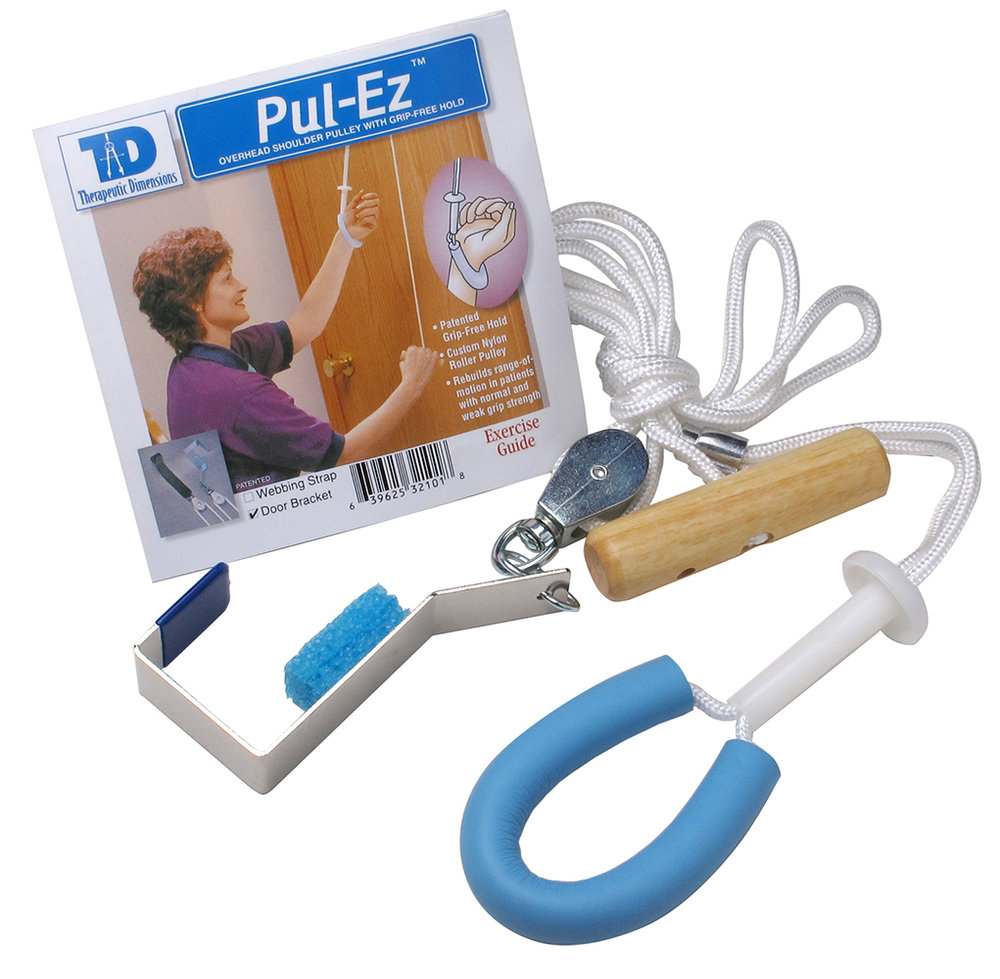 Pull-Easy Grip Free Pulley with Metal Bracket