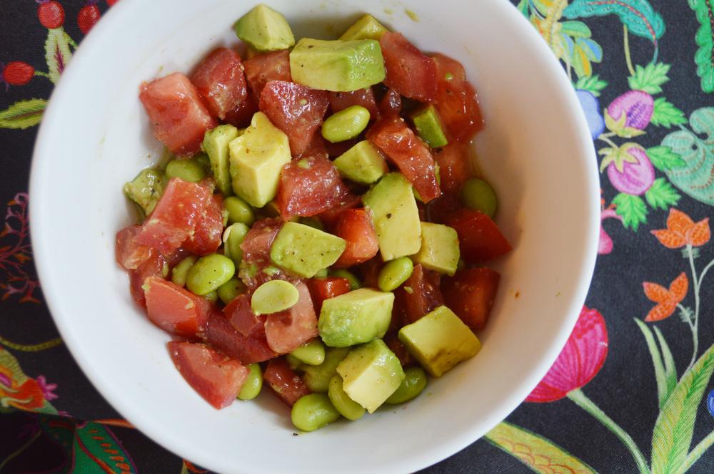 Avocado Tomato Edamame Salad