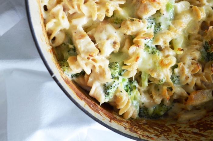 creamy chicken broccoli pasta bake recipe
