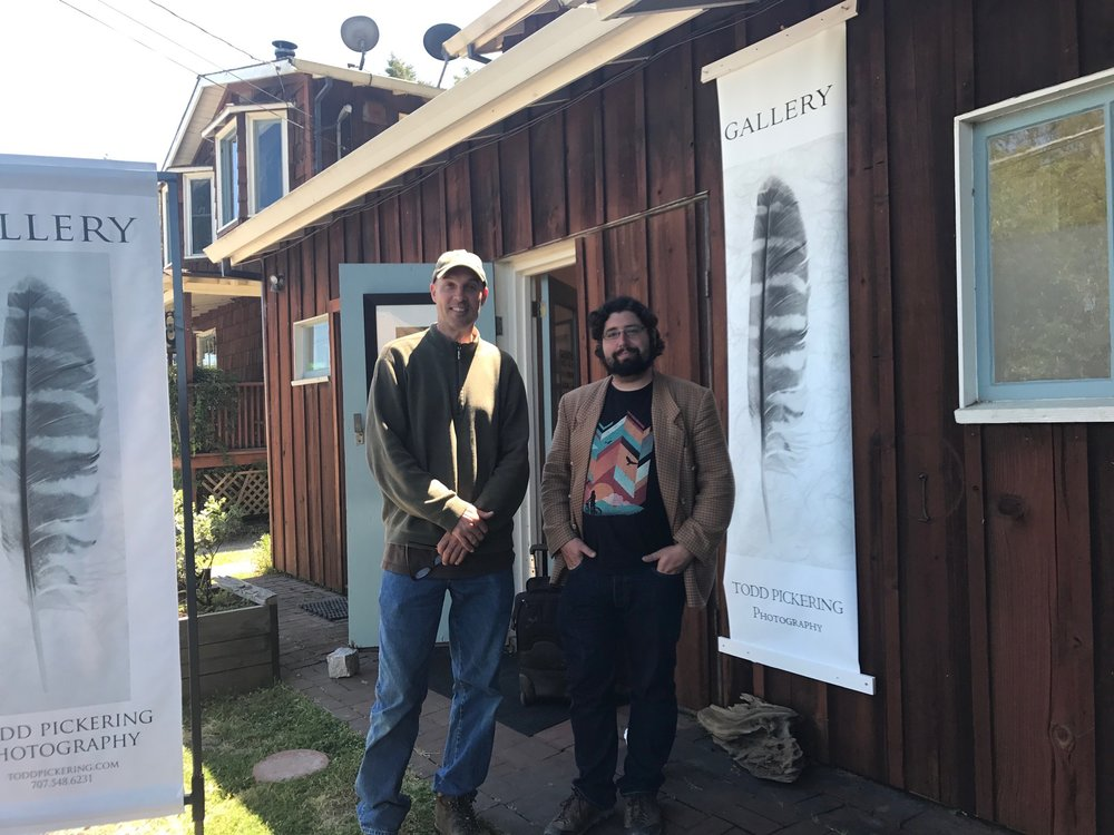 Hal Bergman & Todd Pickering at Todd Pickering's Photography Gallery in Inverness Park, California