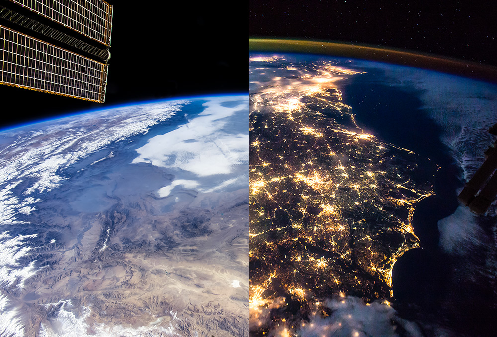 Earth/ISS - from 24 Hour Wallpaper  To download subscribe to our wallpaper mailing list above.