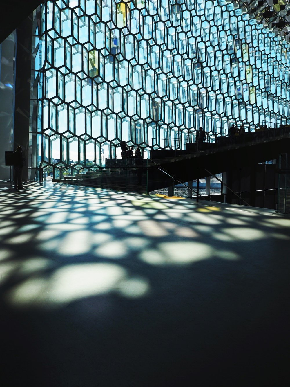 The light through windows at  Harpa Concert Hall  in Reykjavík