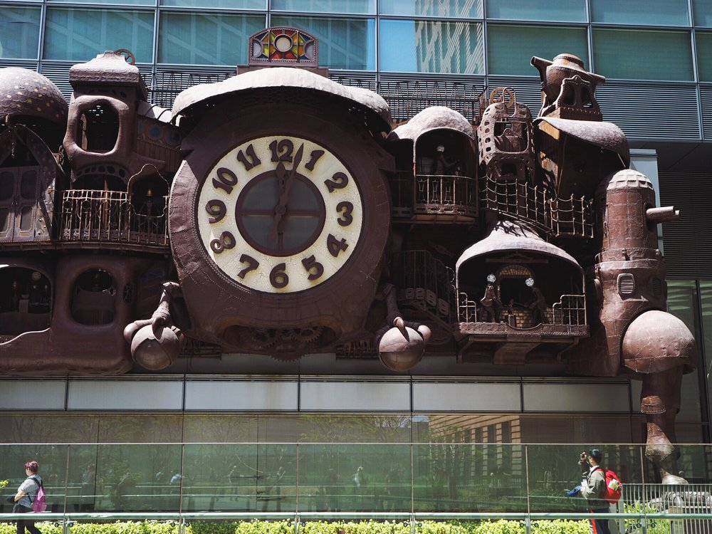 Miyazaki Clock in front of the NTV building