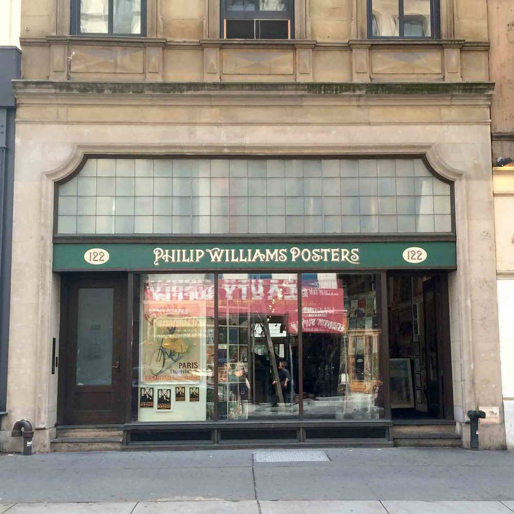 Philip Williams Posters 122 Chambers Street New York, NY 10007 212-513-0313 Open Monday-Saturday 11am - 7pm
