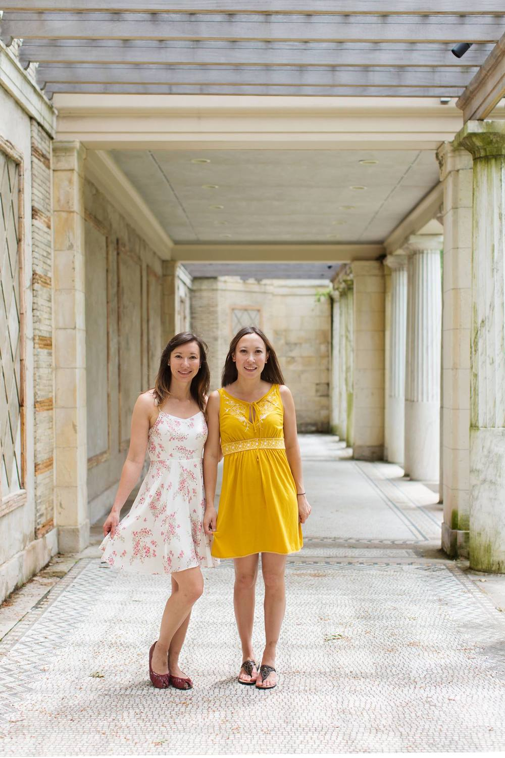 Me and my sister Lisa at Untermyer Gardens  L. Weatherbee Photography