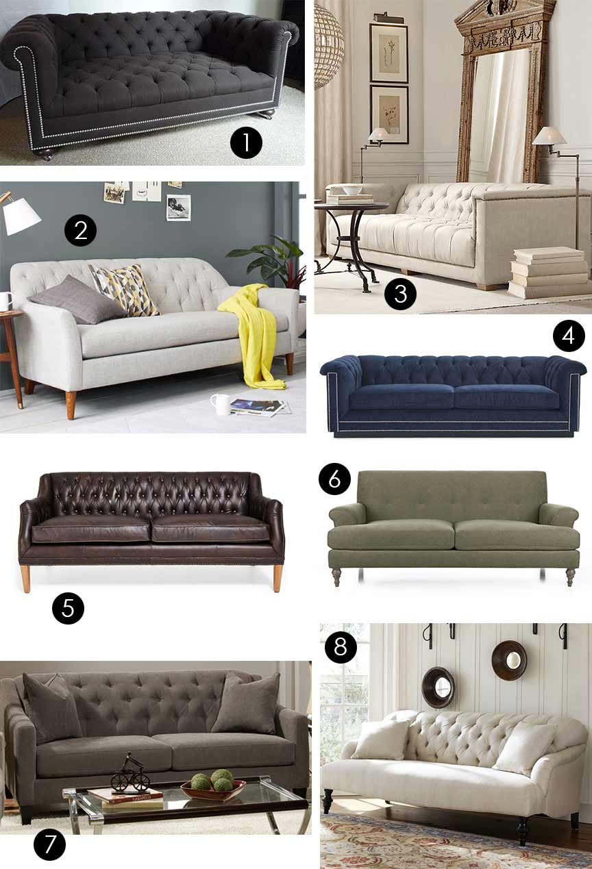 Tufted Back Sofas For Any Budget