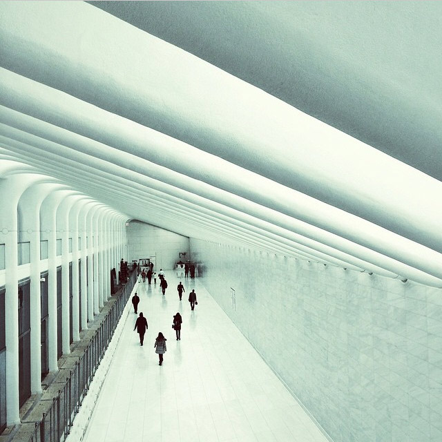 World Trade Center PATH Pedestrian Tunnel Image via   @jungletimer   on Instagram