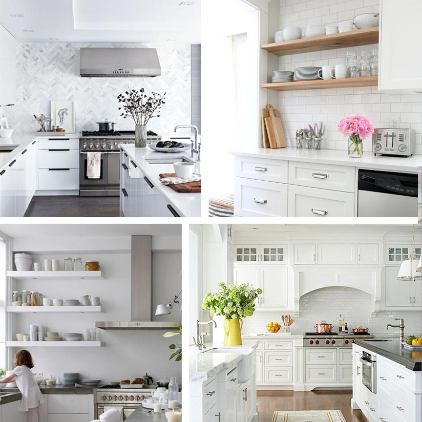 Clockwise from Top Left: 1.  Style at Home  2.  Our House  3.  Home Edit  4.  Better Homes & Gardens