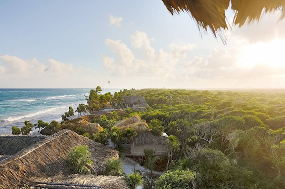 The beautiful setting of Tulum beach. Image via   Airbnb