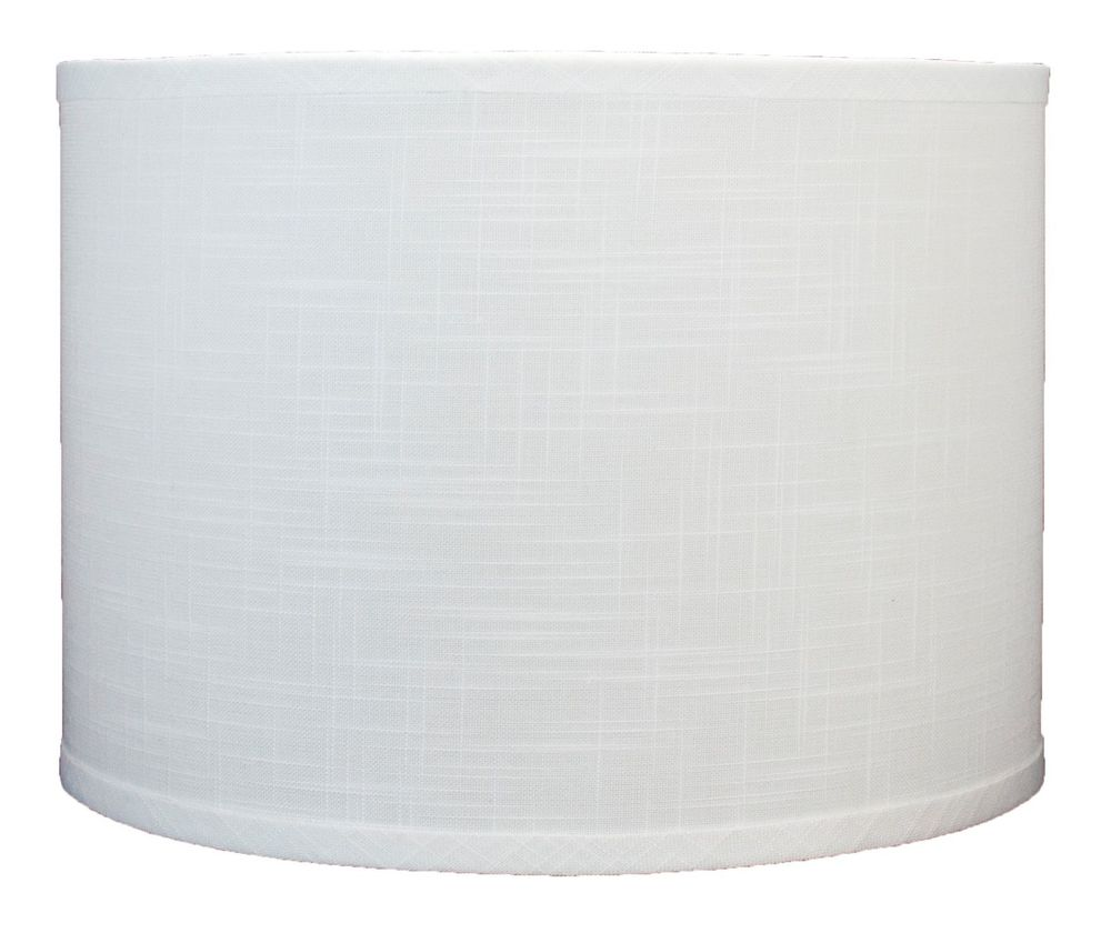 "I chose these simple, straight shades for a more modern look.  You can find lamp shades at many local home decor shops, hardware stores,   or online.  I got these 12x12x10 ""off-white"" linen shades from  Urbanest Living   for $28.99 each  ."