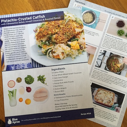 The 1-page instruction sheet breaks the recipe down into simple steps, and the ingredient list with pictures makes it easy to identify new foods.