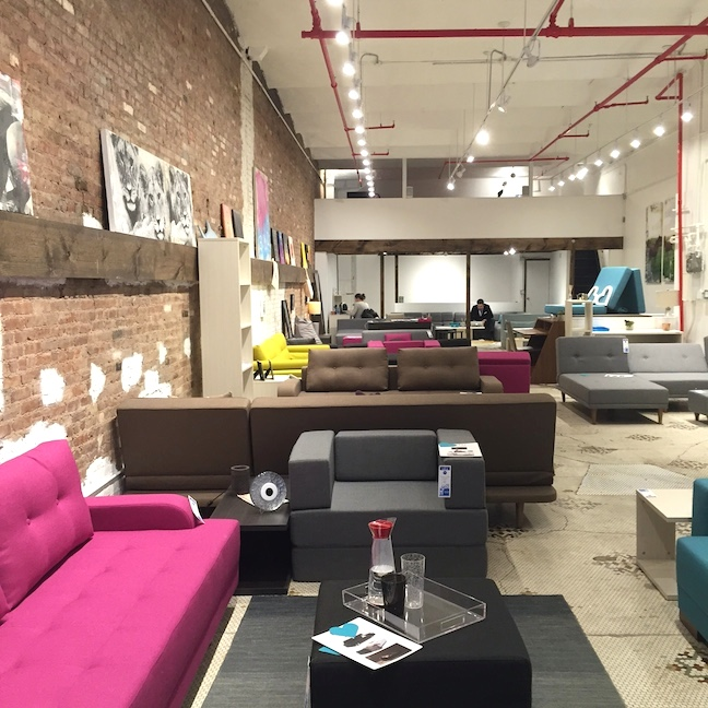 The new NYFU showroom in Chelsea, Manhattan.