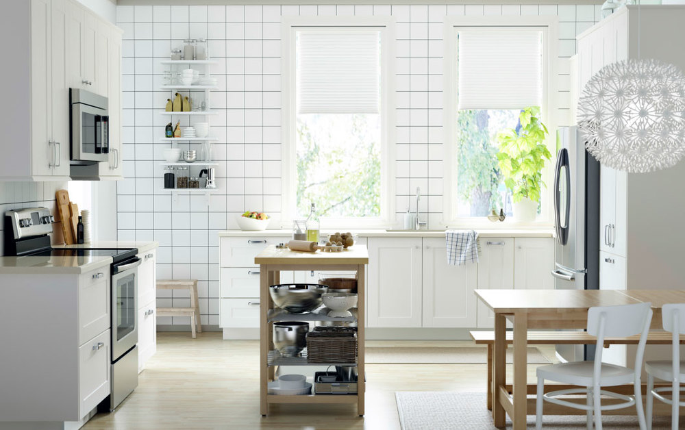 Crisp and clean GRIMSLOV door fronts.  Image via   IKEA  .