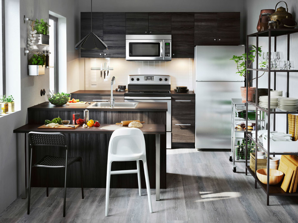 Introducing sektion the new ikea kitchen system ms for Kitchen setting pictures