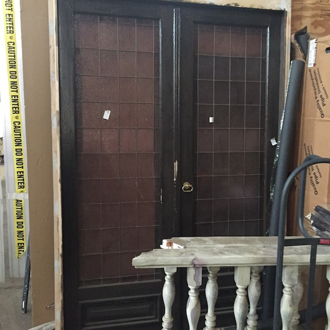 Antique Leaded Glass Double Doors - $1,425.