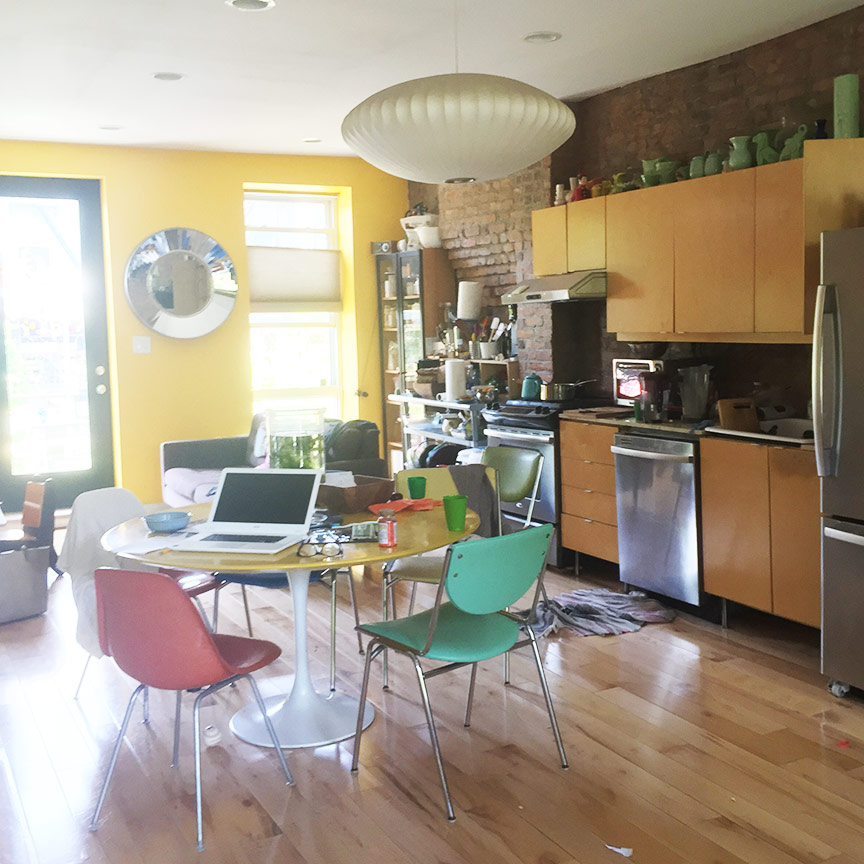 The open floor plan is bright, sunny, and low-key.