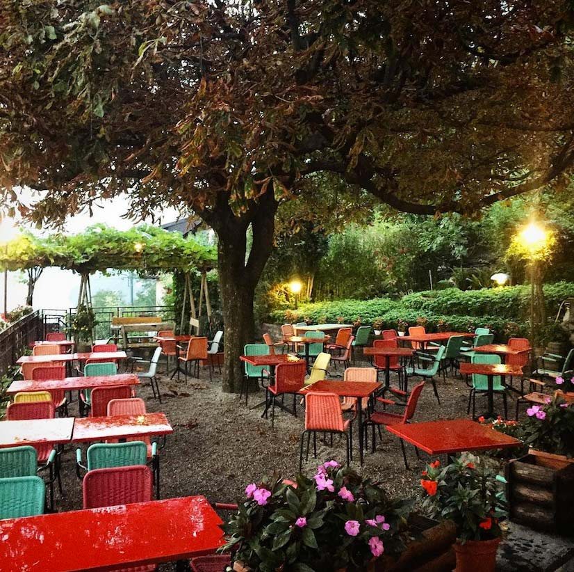 The terrace at our favorite local restaurant, La Meridiana. Image via @lweatherbee on Instagram.