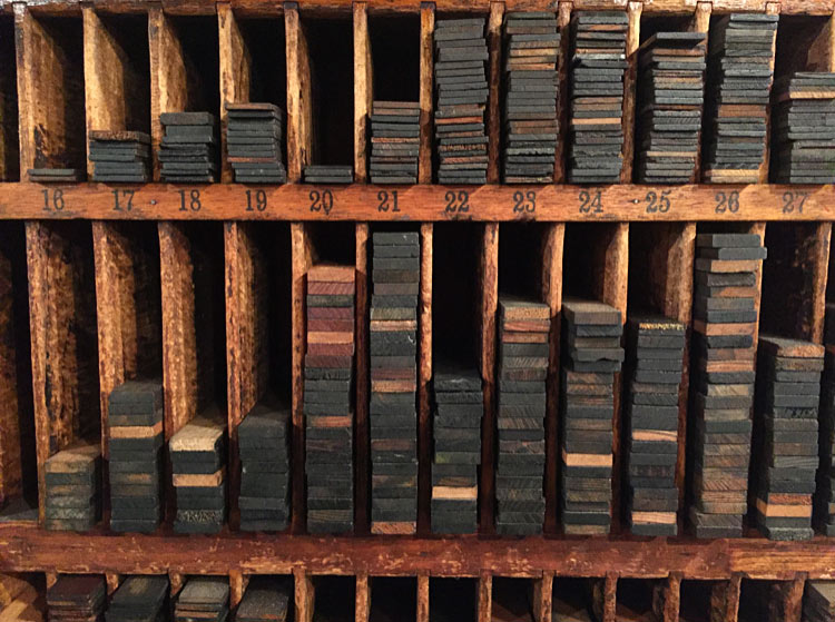 Stacks of letters. Image via  @lweatherbee .
