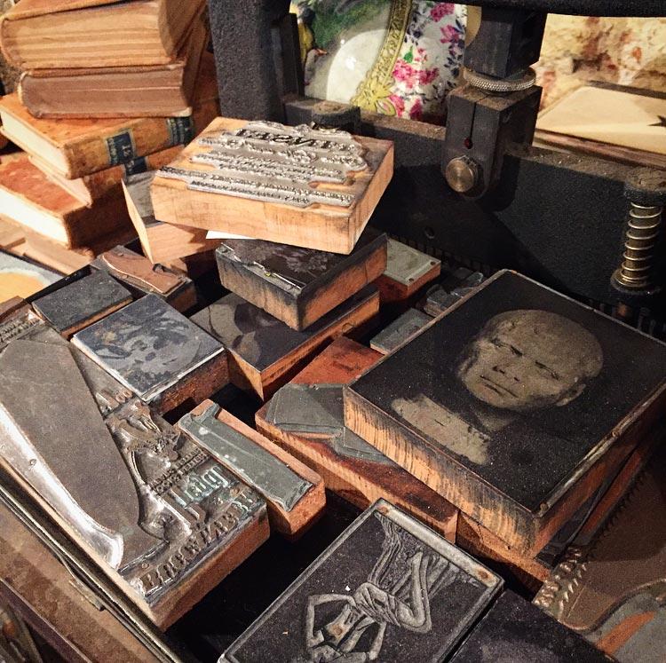 A collection of custom print blocks.Image via @lweatherbee.