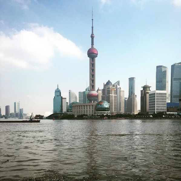 Pudong District in Shanghai. Image via  @jungletimer
