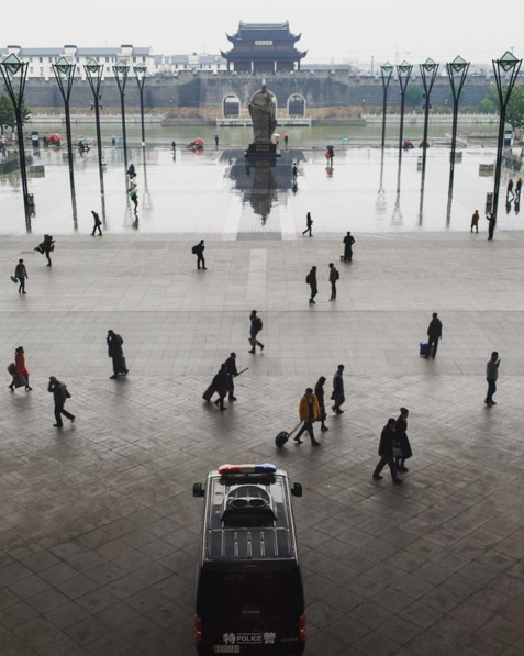 The train station at Suzhou, China. Image via  @jungletimer