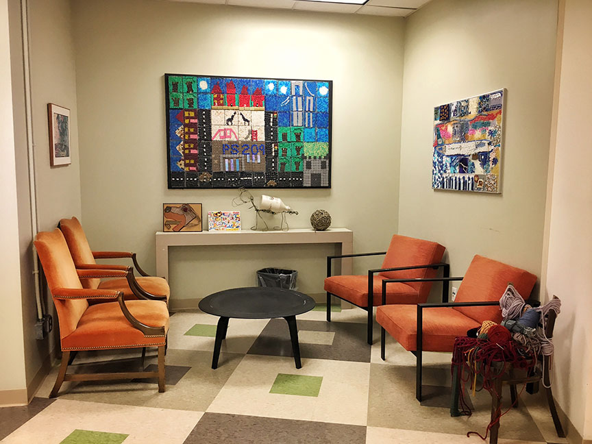 Inside the MFTA office waiting lounge. Image via  @lweatherbee