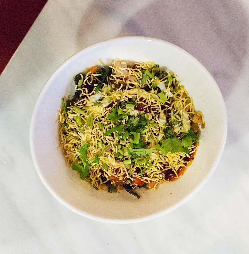 Palak Chaat. Photography by  Lisa Weatherbee