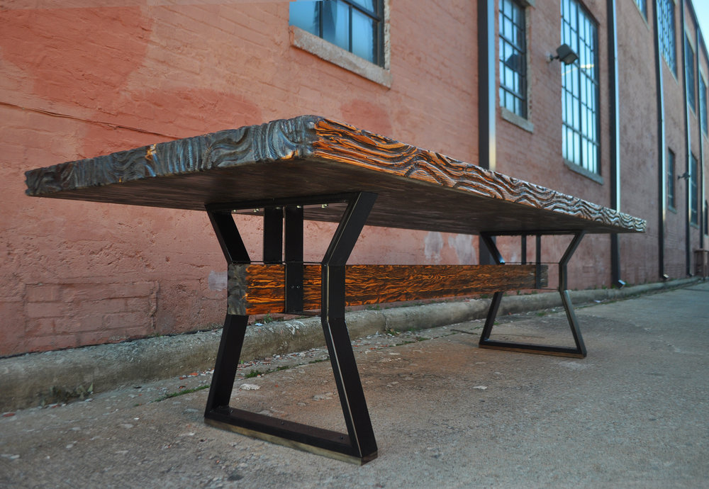 HArvest Table - Our rustic reclaimed tables are perfect for any home or commercial establishment. These sturdy and well made tables have a finish that holds up, and looks even better over time. An added plus: we can customize the table to fit your dining area!