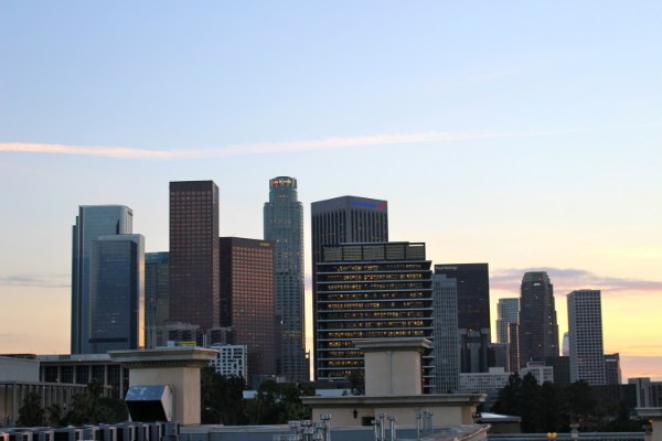 Downtown LA | sunsets from Sunset