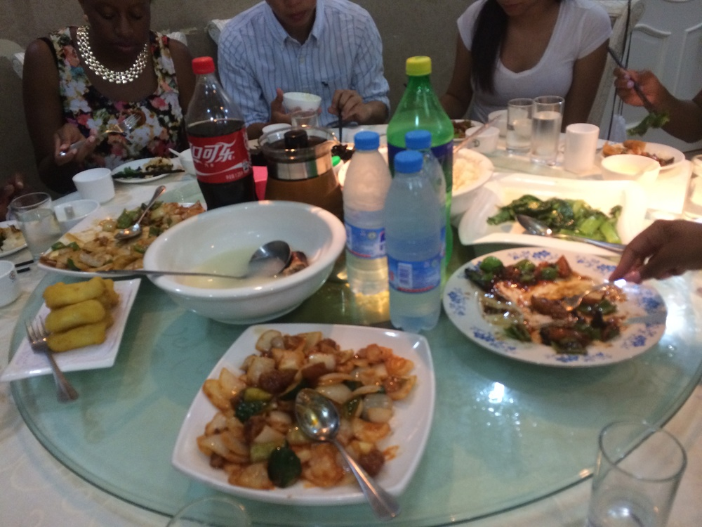 Family-style Chinese cuisine. Our first lunch in Beijing!