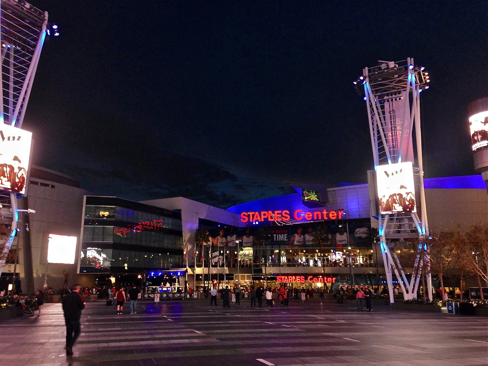 Living downtown near the Staples Center was definitely cool for the moment