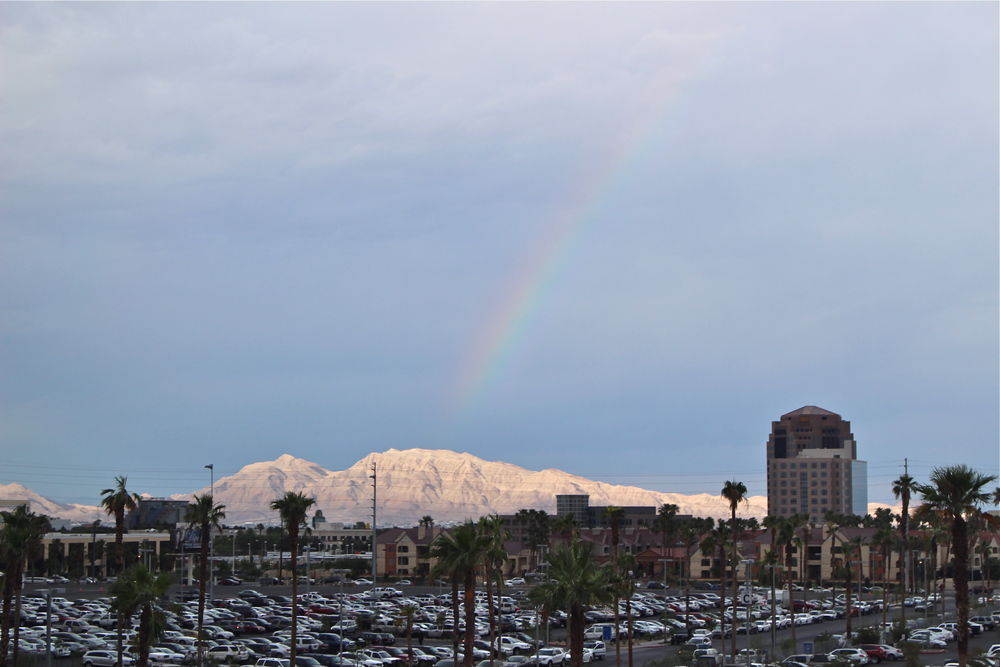 A rainbow over the Vegas Valley