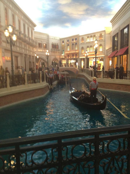 Enjoy a real Gondola ride--Venetian style!