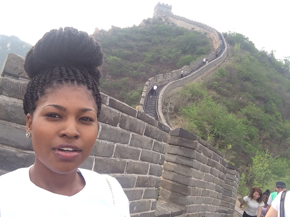 Selfie with the top of the Great Wall! #selfieolympics The rest of my uphill battle, documented.