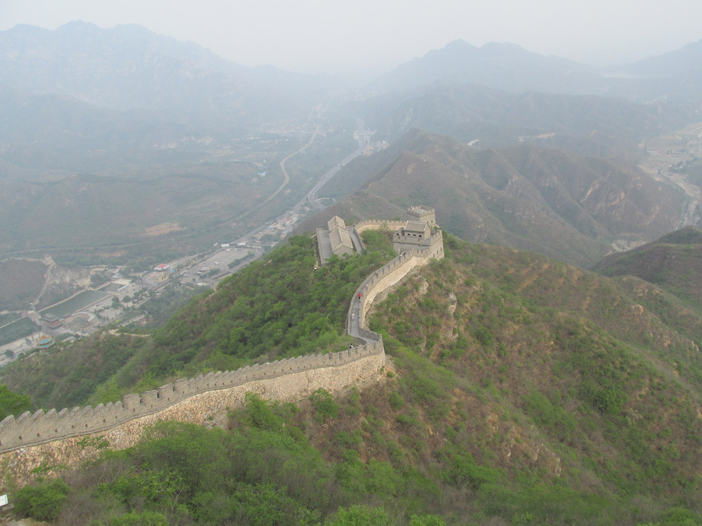 The view from the top of Juyongguan.