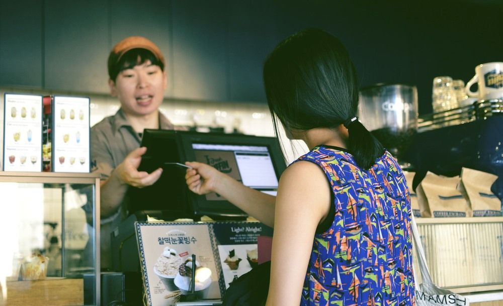 Transaction at Manoffin Cafe in Itaewon   Source: alexis-jenkins.squarespace.com