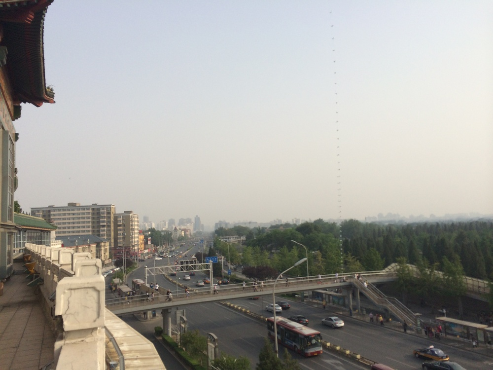 View of Beijing from Pearl Market