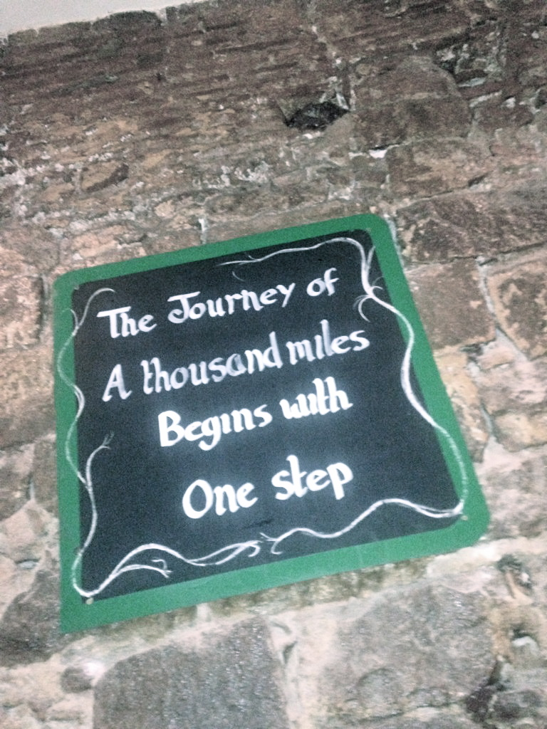 """The journey of a thousand miles begins with one step."""
