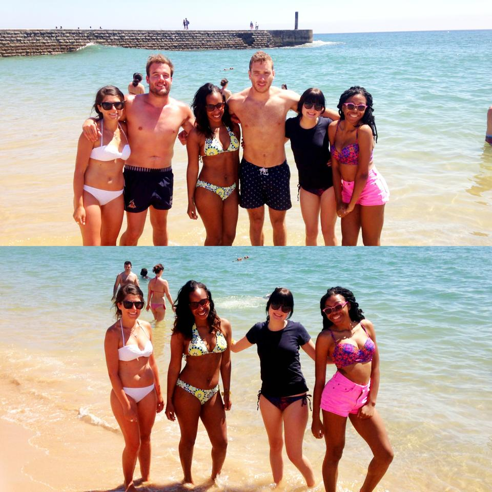 Caiscais Beach with our Australian friends!