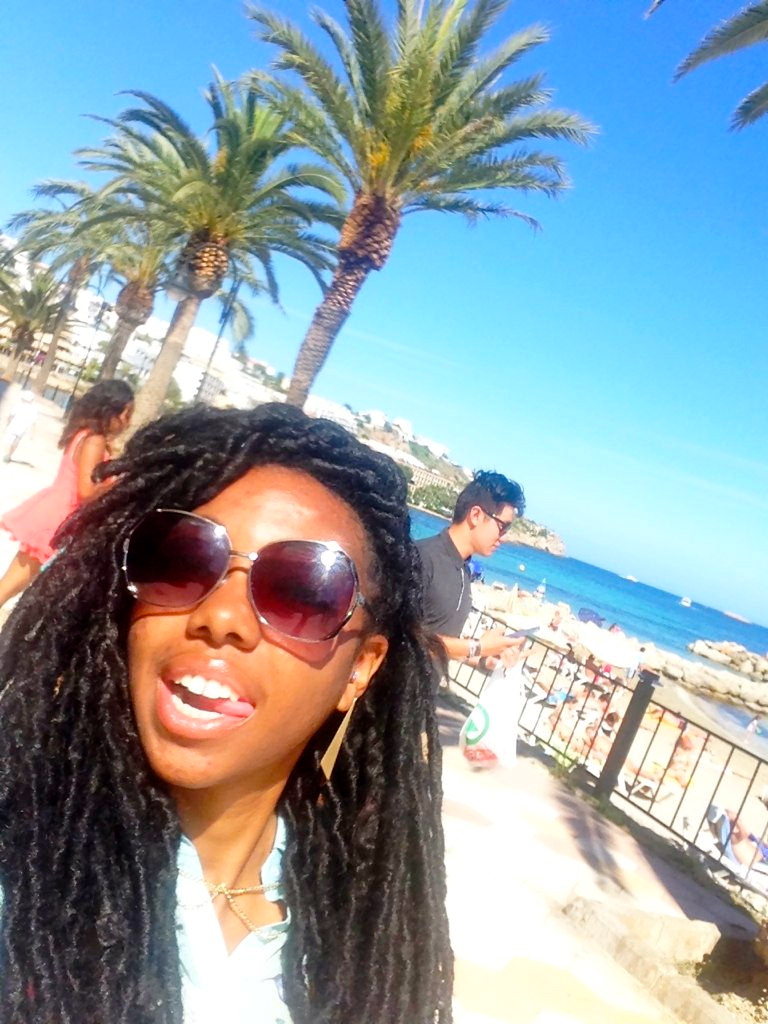 black travel blogger spain