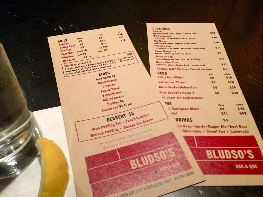 bludso's bbq menu west hollywood