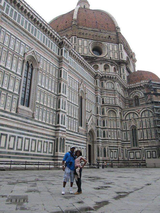 My dad and I at the Basilica di Santa Maria del Fiore - Florence, Italy'smain duomo