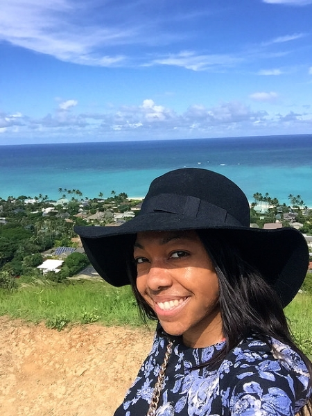 black girl hiking hawaii