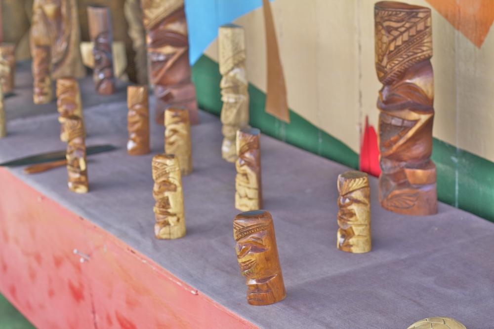 hawaiian wood tikis