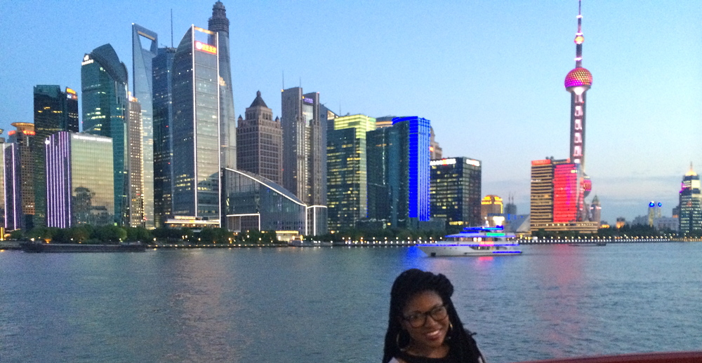 Cruising on the Huangpu River in Shanghai
