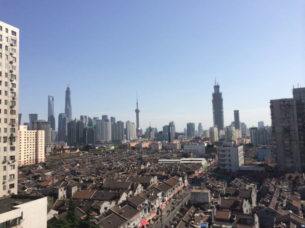 Skyline of Shanghai, looking toward the Bund